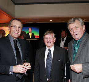 Peter Williams, Bill McCarthy & Dougal Stevenson at 40th anniversary Network News event held on Wednesday night at TVNZ.